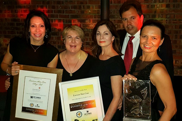 2017 EXPORTER OF THE YEAR WINNER - Press Release | Environ Skin Care